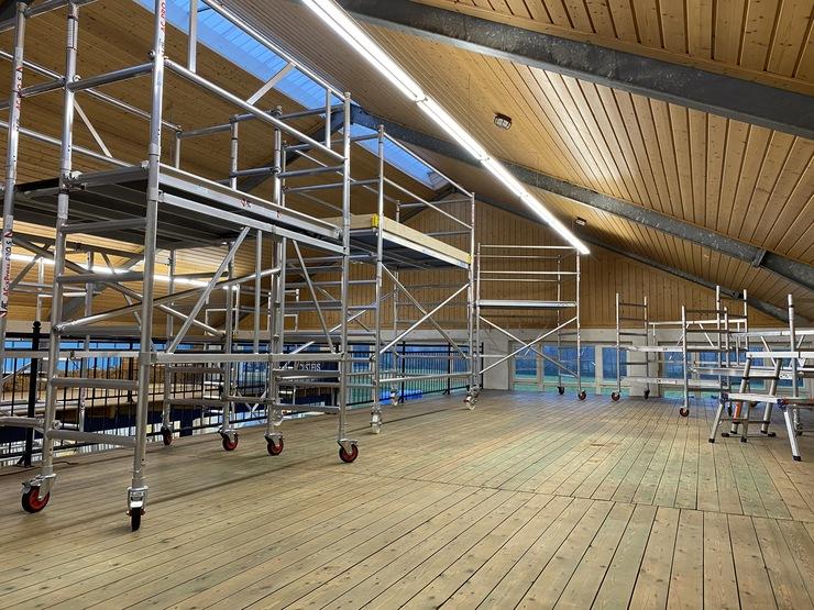 Ausstellung Gerüste Zweite Etage ABCD Gerüstverleih und -vertrieb Münsterland