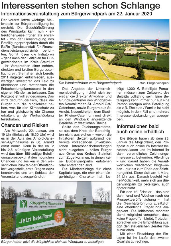 Mitteilungsblatt vom 20.11.19