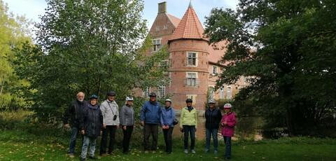 Eins der ersten Highlights auf der Jubiläums-Fahrradtour: Haus Vögeding bei  Münster-Nienberge