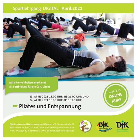 DJK-Sportlehrgänge DIGITAL - Pilates und Entspannung