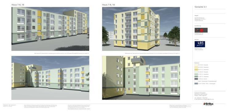 Farbentwurf: Fassadensanierung Baaderweg, 2018