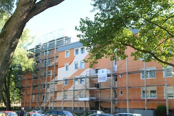 Fassadengestaltung Mehrfamilienhaus: Werkloh, Dortmund (2016) - Während der Ausführung - 2