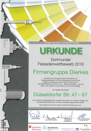 Ausgezeichnet! Ulrich Dierkes GmbH gewinnt Dortmunder Fassadenwettbewerb