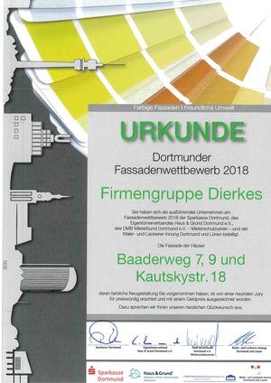 Ausgezeichnet! Dierkes OBJEKT GmbH gewinnt Dortmunder Fassadenwettbewerb