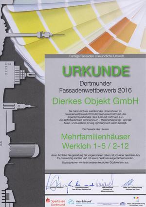 Ausgezeichnete Fassadengestaltung: Dierkes OBJEKT GmbH gewinnt Dortmunder Fassadenpreis