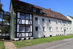 Fassadensanierung mit Fachwerkelement als Highlight