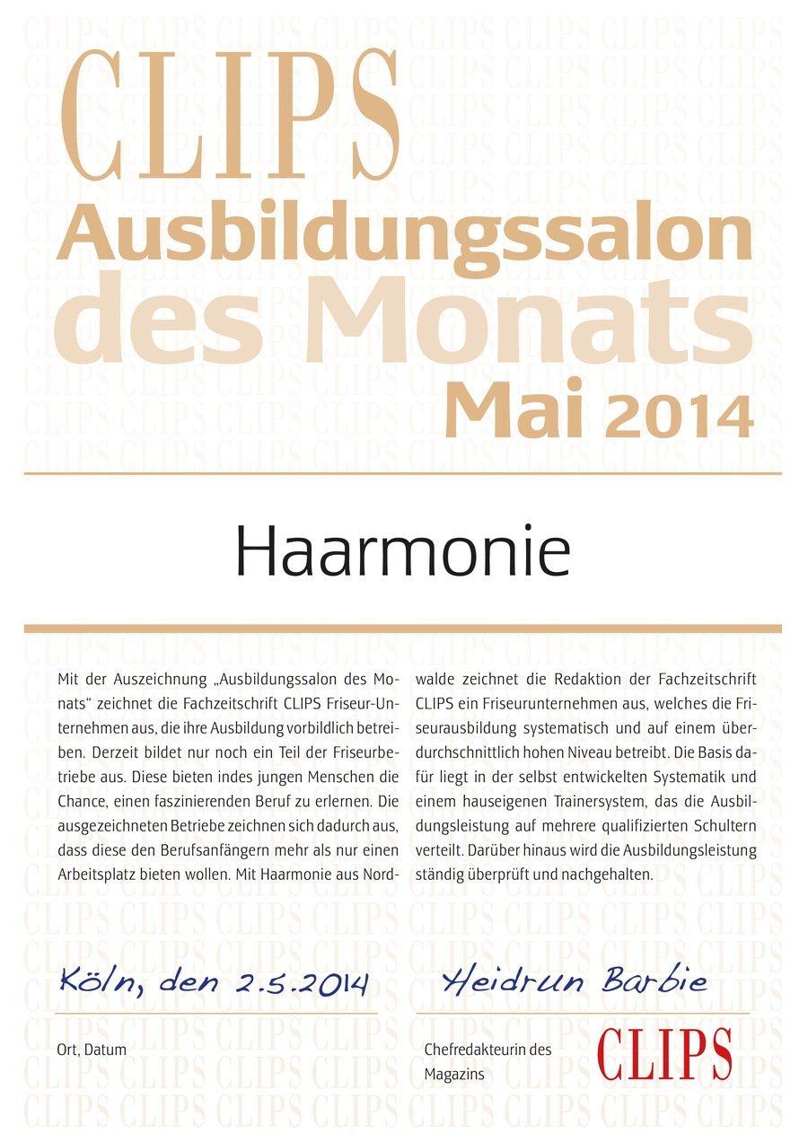 Ausbildungssalon des Monats Haarmonie Friseure Nordwalde