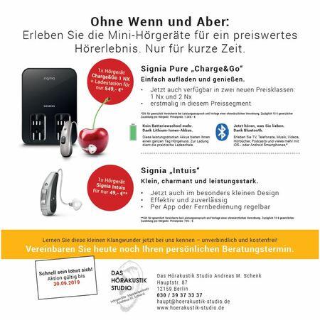 Mini-Hörgeräte von Signia - Testaktion bis 30.09