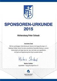 Wir unterstützen den Spvgg Bissingen