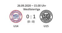 Erste Niederlage für U14 in der Westfalenliga