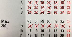 gestrichener Kalender 3