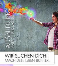 werde Maler!!! AUSZUBILDENDE ZUM MALER UND LACKIERER (M/W/D) gesucht!!!
