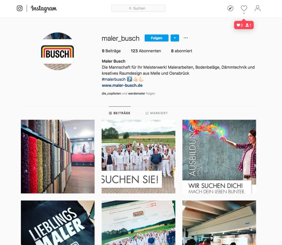 Jetzt auch auf Instagram unterwegs!