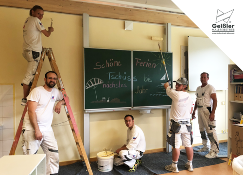 Ferienzeit ist Renovierungszeit - viele Grüße aus den Schulen und Kitas