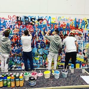 Das werde Maler-Team im Karrierecenter der bautec in Berlin