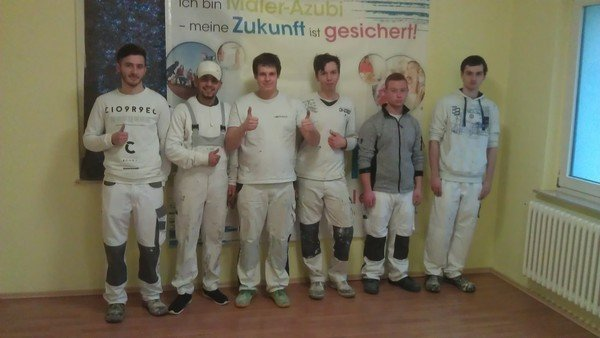 Malerschule Bünde Februar 2017 - ÜLU 1. Lehrjahr, 2. Durchgang