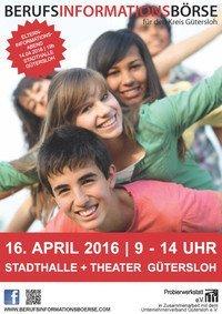 Berufsinformationsbörse am 16. April in der Stadthalle Gütersloh