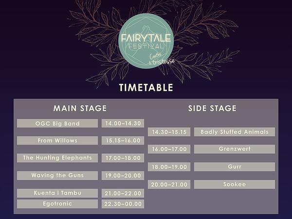 Timetable Fairytale Festival Osnabrück