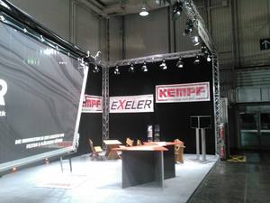 Messestand Exeler Agrar & kempf suported by perfect sound GmbH   Messebau & Messetechnik