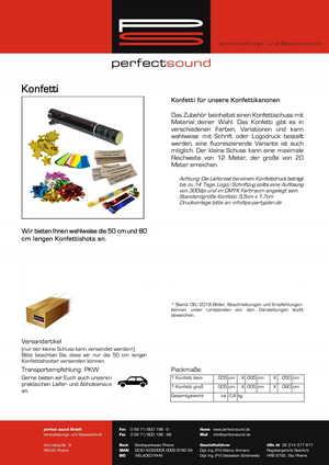 Konfetti bei ps-partyplan.de aus Rheine