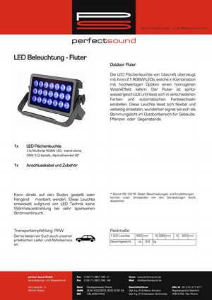 LED Fluter - Flächenleuchte von ps-partyplan.de aus Rheine