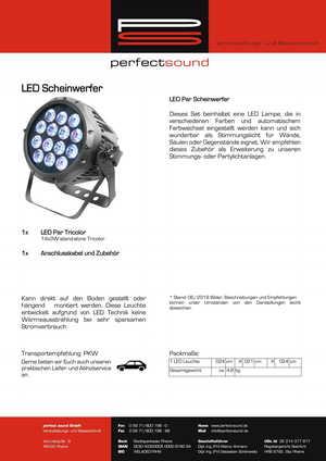 LED Par Scheinwerfer von ps-partyplan.de aus Rheine