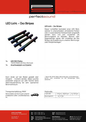 LED Licht - Oxo Stripes von ps-partyplan.de aus Rheine