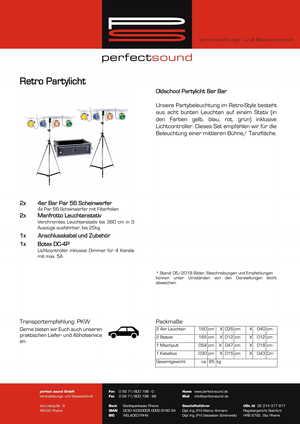 Retro Partylicht von ps-partyplan.de aus Rheine