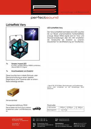 LED Lichteffekt von ps-partyplan.de aus Rheine