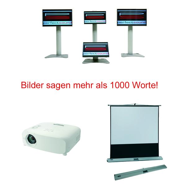 Beamer, Leinwand, LCD, Beamer Verleih, Beamer mieten, Beamer Leinwand leihen bei ps-partyplan.de