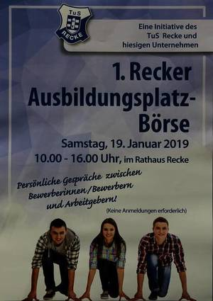 1. Recker Ausbildungsplatz-Börse am 19. Januar 2019