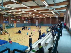 Großes Spielfest der Mini-Handballer in der Buchenberghalle
