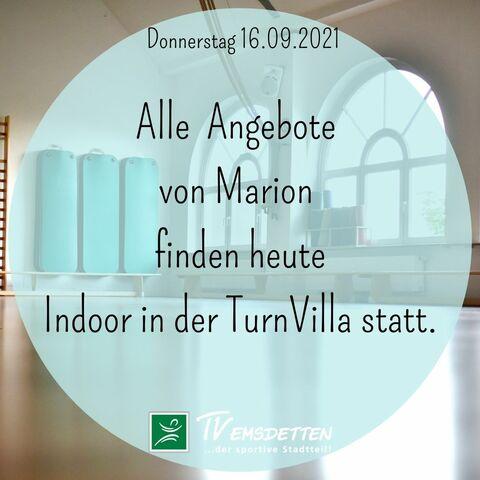 Groupfitnessangebote von Marion heute indoor