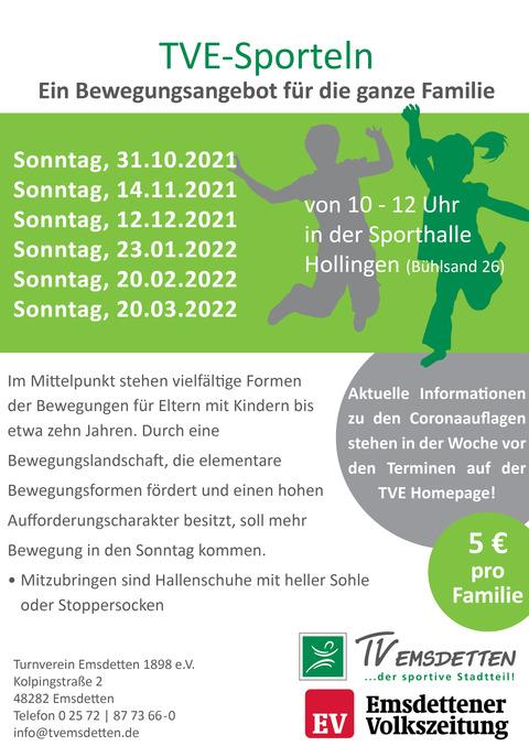 TVE Familiensporteln am 31.10.2021