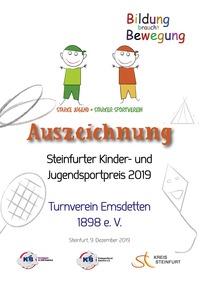 Kinder- und Jugendsportpreis 2019