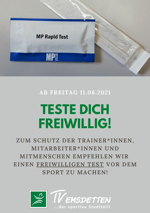 Teste dich freiwillig!