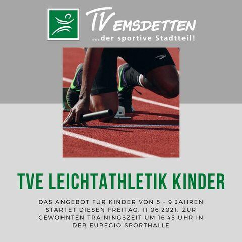TVE Kinder-Leichtathletik startet am Freitag