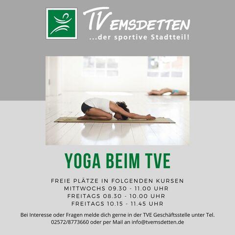 Freie Plätze - Yoga in der TurnVilla