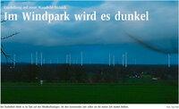 Im Windpark wird es dunkel